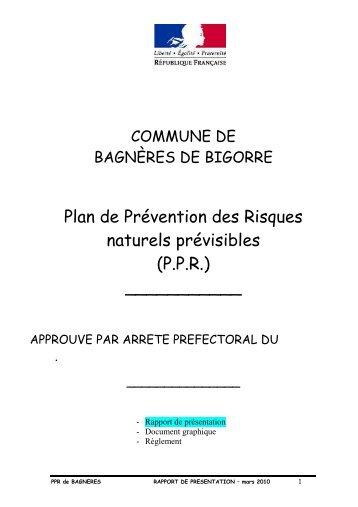 Rapport de présentation - Bagnères de Bigorre
