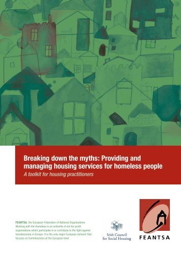 Providing and managing housing services for homeless people