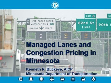Managed Lanes Congestion Pricing (Minnesota)