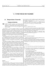 I. COMUNIDAD DE MADRID - Legislación de Aprendizaje a lo largo ...