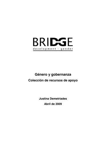 Género y gobernanza - Recursos de Desarrollo Humano Local