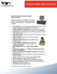 Hawkeye Digital Video Recorders