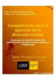 Competencias para el ejercicio de la dirección escolar - Groc