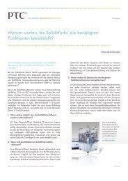 Warum warten, bis SolidWorks® die benötigten ... - PTC.com