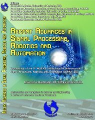 RECENT ADVANCES in SIGNAL PROCESSING ... - Wseas.us