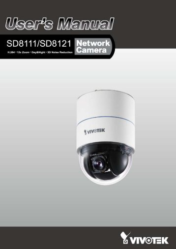 Vivotek SD8121 User's Manual - Use-IP