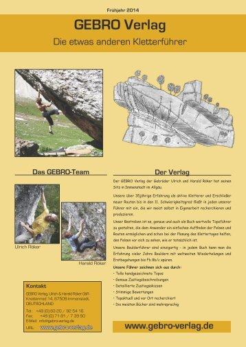 Verlagsprogramm - GEBRO Verlag