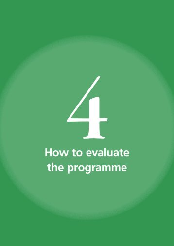 How to evaluate the programme - World Health Organization