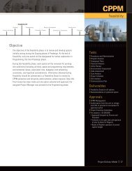 Feasibility - Capital Planning and Project Management