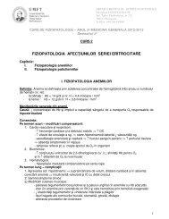 fiziopatologia afecțiunilor seriei eritrocitare - Fiziopatologie
