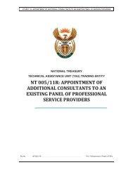 TAU Panel Refreshment Bid Document 06 May 2011 - National ...