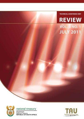 Review 3 final 2 - TAU - National Treasury