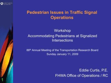 Impacts of Pedestrians on Traffic Signal Operations