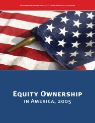 Equity Ownership in America, 2005 - Investment Company Institute