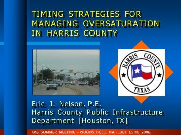 Where Is Harris County? - Traffic Signal Systems Committee