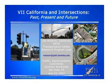 VII California and Intersections: - Traffic Signal Systems Committee
