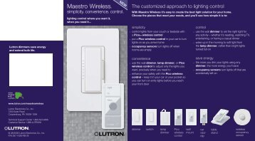Maestro Wireless - Hill Residential Systems