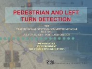 pedestrian and left turn detection - Traffic Signal Systems Committee