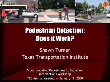 Pedestrian Detection: Does it Work? - Traffic Signal Systems ...