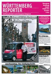 PDF zum Download - Württemberg Reporter Magazin