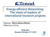Energy-efficient Networking - IEEE Communications Society