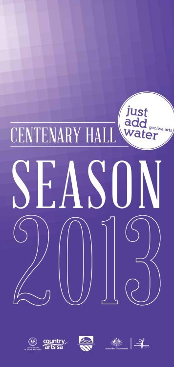 Just Add Water program 2013 (1518 kb) - Alexandrina Council - SA ...