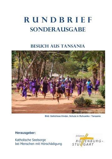 rundbrief sonderausgabe besuch aus tansania - hoeren-shg.de