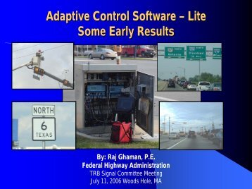 Adaptive Control Software – LITE Before and After Traffic Analysis ...