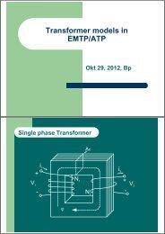 Transformer models in EMTP/ATP