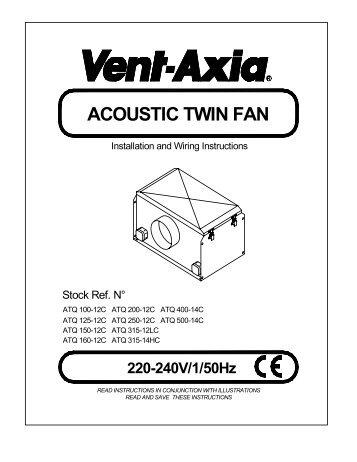 F&W Instructions - Vent-Axia
