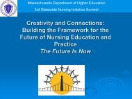 Transition from Education to Practice - Massachusetts Department of ...