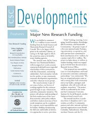 Major New Research Funding - Centre for the Study of Co-operatives
