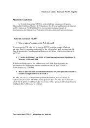 Réunion du Comité de pilotage - ADEA