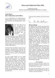 Elternbrief März 2006 - Adolf Reichwein Schule