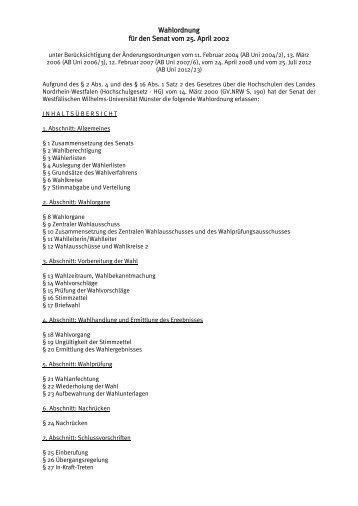 (Lesefassung 2012) (pdf) - Westfälische Wilhelms-Universität Münster