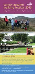 Walking Festival brochure DOWNLOAD here - Carlow Tourism