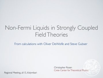 Non-Fermi Liquids in Strongly Coupled Field Theories