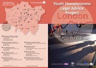 Youth Homelessness - Tower Hamlets Law Centre
