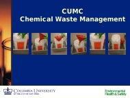 Chemical/Hazardous Waste Management (CUMC) - Environmental ...