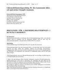 Bilaga 15 Läkemedelshanteringsordning - Kungälv