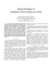 Design Paradigms of Intelligent Control Systems on a Chip