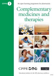 Complementary medicines and therapies - CPPE