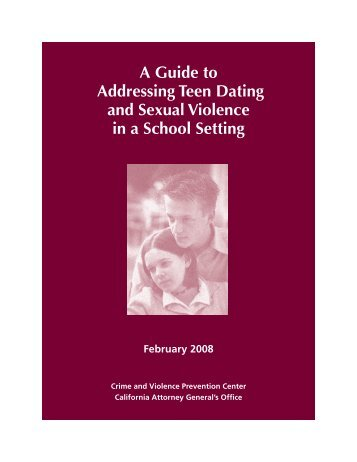 A Guide to Addressing Teen Dating and - Peace Over Violence