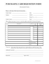 PCard Requisition Form - UF Purchasing