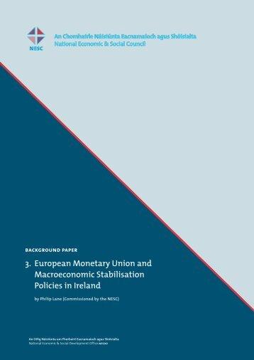 3. European Monetary Union and Macroeconomic Stabilisation ...