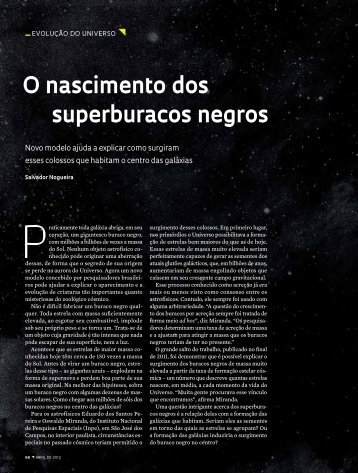 O nascimento dos superburacos negros - Revista Pesquisa FAPESP