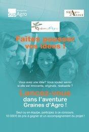 plaquette du concours Graines d'Agro. - Montpellier SupAgro