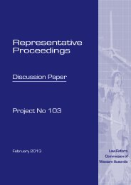 Discussion Paper - Law Reform Commission of Western Australia