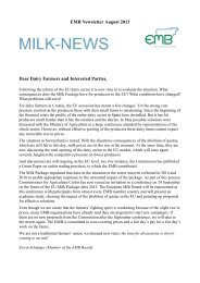 EMB Newsletter August 2013 Dear Dairy Farmers and ... - NMV