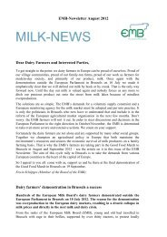 EMB-Newsletter August 2012 Dear Dairy Farmers and ... - NMV